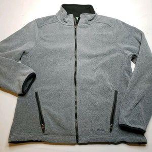 L.L. Bean Polartec Womens Gray Zip Up Fleece